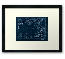 American Revolutionary War Era Maps 1750-1786 060 A map of East and West Florida Georgia and Louisiana  with the islands of Cuba Bahama and the countries Inverted Framed Print