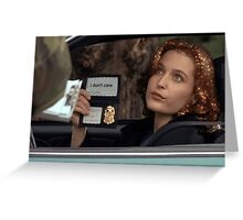 Dana Scully I Don't Care Sparkle Greeting Card