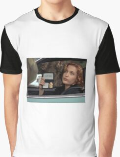 Dana Scully I Don't Care Sparkle Graphic T-Shirt