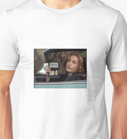 Dana Scully I Don't Care Sparkle Unisex T-Shirt