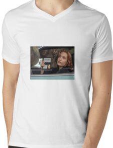 Dana Scully I Don't Care Sparkle Mens V-Neck T-Shirt