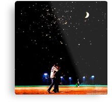Mulder and scully baseball under the stars Metal Print