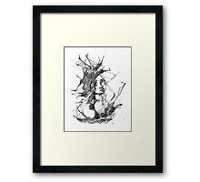 Ink Creature Framed Print