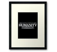 faith humanity Framed Print