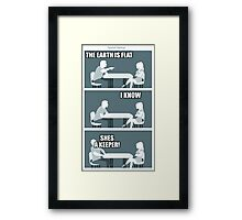 flat earth speed dating Framed Print