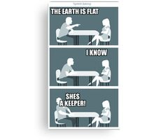 flat earth speed dating Canvas Print