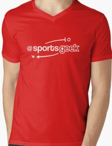 Sports Geek Playbook - White Mens V-Neck T-Shirt