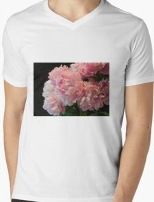Pink Peony Passion Mens V-Neck T-Shirt