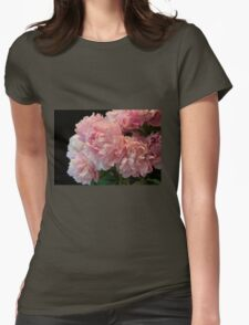Pink Peony Passion Womens Fitted T-Shirt