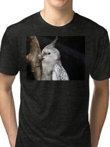 White Faced Cockateal - NZ Tri-blend T-Shirt