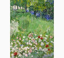 1890-Vincent van Gogh-Daubigny's garden-50,7x50,7 Unisex T-Shirt