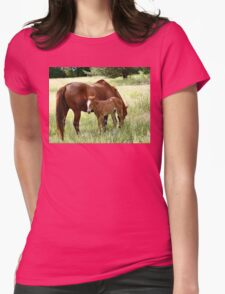 Mother And Foal - Christchurch Womens Fitted T-Shirt