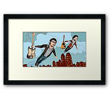 Flight Of The Conchords - Flying Framed Print