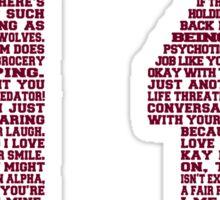 """Scott """"Quote"""" Jersey V2.0 Sticker"""