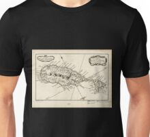 American Revolutionary War Era Maps 1750-1786 375 Carte de de sic l'Isle St Christophe Unisex T-Shirt