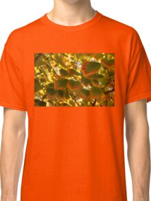 Slowly Changing Dimension - Hot Vibrant Leaf Edges Celebrating the Arrival of Autumn Classic T-Shirt