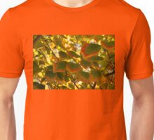 Slowly Changing Dimension - Hot Vibrant Leaf Edges Celebrating the Arrival of Autumn Unisex T-Shirt