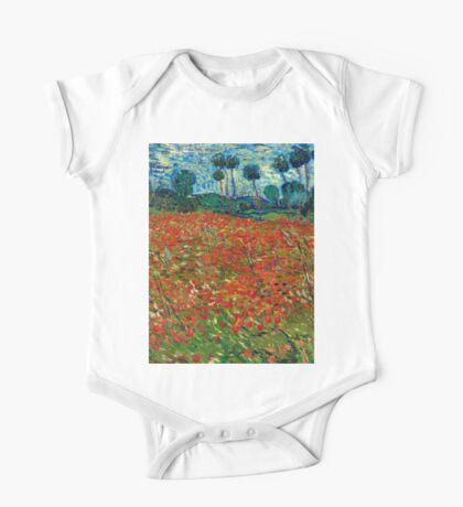 1890-Vincent van Gogh-Poppy field-82,7x102 One Piece - Short Sleeve