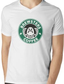 Brewsters Coffee Mens V-Neck T-Shirt
