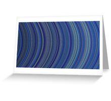 curve ribbon pattern blue Greeting Card