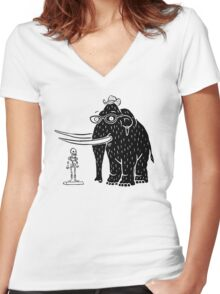 Frozen Mammoth Women's Fitted V-Neck T-Shirt