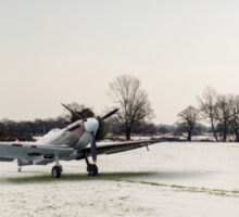 Spitfires in the snow Sticker