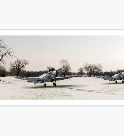 Spitfires in the snow Sticker