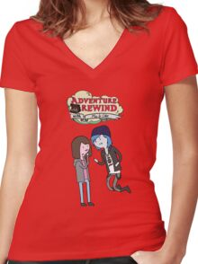 Adventure Rewind Women's Fitted V-Neck T-Shirt