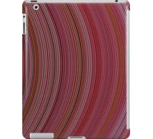 curve ribbon pattern red iPad Case/Skin