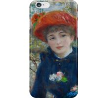 Auguste Renoir - Two Sisters On the Terrace 1881 iPhone Case/Skin
