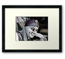 Editorial, 6 March 2016: Rosheim, France: Venetian Carnival Mask - A most beautiful masks photographed in open street Framed Print
