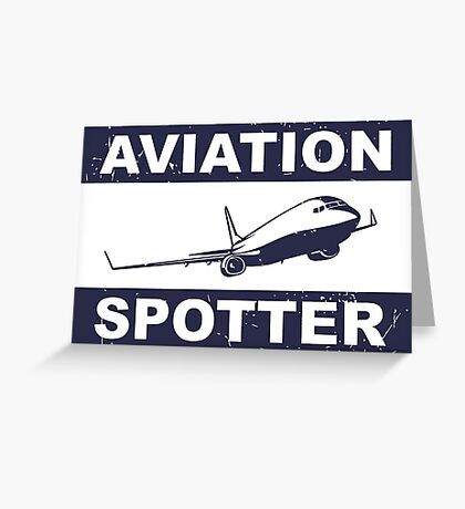 Aviation Spotter 737-blue Greeting Card