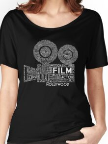 Film Camera Typography - White Women's Relaxed Fit T-Shirt