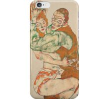 Egon Schiele - Lovemaking 1915 Woman Portrait iPhone Case/Skin