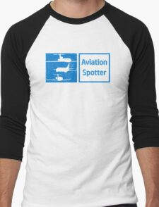 Aviation Spotter three plane Men's Baseball ¾ T-Shirt