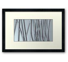paper ribbon background white Framed Print