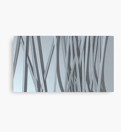 paper ribbon background white Canvas Print
