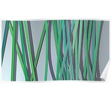 ribbon paper background green Poster