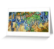 1890-Vincent van Gogh-Tree-roots-50x100 Greeting Card
