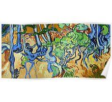 1890-Vincent van Gogh-Tree-roots-50x100 Poster
