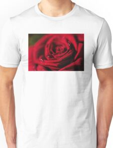 Dark red rose- close up Unisex T-Shirt