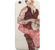 Egon Schiele - Lovers 1914-15 iPhone Case/Skin