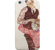 Egon Schiele - Lovers 1914-15 Woman Portrait iPhone Case/Skin