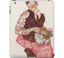 Egon Schiele - Lovers 1914-15 Woman Portrait iPad Case/Skin