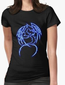 Dragon neon bleue 3 Womens Fitted T-Shirt