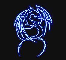 Dragon neon bleue 3 Unisex T-Shirt