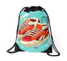 Sneakers Shopping Addiction Drawstring Bag