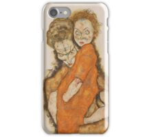 Egon Schiele - Mother and Child 1914 Woman Portrait iPhone Case/Skin
