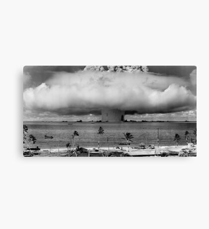 Nuclear Weapon Test - Bikini Atoll  Canvas Print
