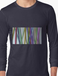 paper ribbon background color Long Sleeve T-Shirt